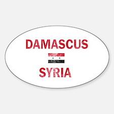 Damascus Syria Designs Sticker (Oval 50 pk)