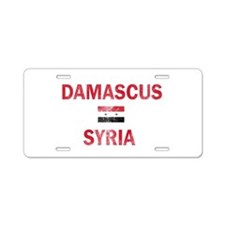 Damascus Syria Designs Aluminum License Plate