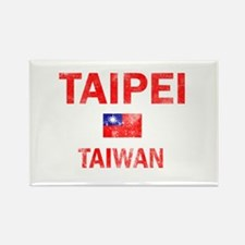 Taipei Taiwan Designs Rectangle Magnet