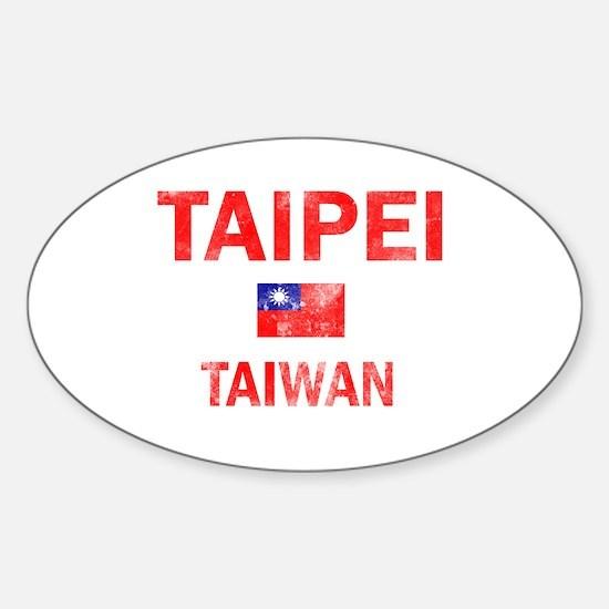 Taipei Taiwan Designs Sticker (Oval)