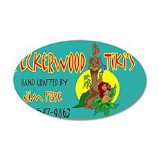 PECKERWOOD TIKI CARD.jpg Wall Decal
