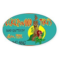 PECKERWOOD TIKI CARD.jpg Decal