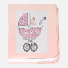 DaisyBoo New Baby Girl baby blanket