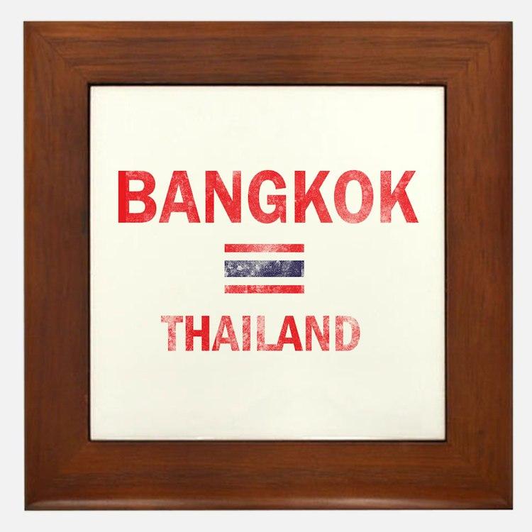 Bangkok Thailand Designs Framed Tile