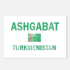 Ashgabat Turkmenistan Designs Postcards (Package o