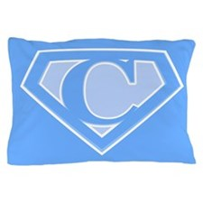 Super Blue Logo Pillow Case