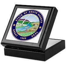 South Dakota State Seal Keepsake Box