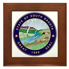 South Dakota State Seal Framed Tile