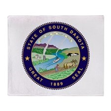 South Dakota State Seal Throw Blanket