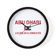 Abu Dhabi United Arab Emirates Designs Wall Clock
