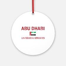 Abu Dhabi United Arab Emirates Designs Ornament (R