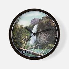 South Dakota Spearfish Falls Wall Clock