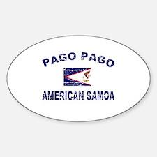 Pago pago American Samoa Designs Sticker (Oval)