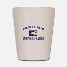 Pago pago American Samoa Designs Shot Glass