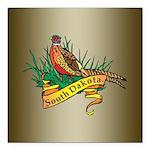 South Dakota Pheasant Square Car Magnet 3