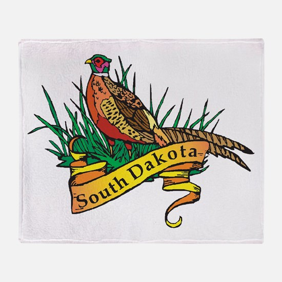 South Dakota Pheasant Throw Blanket