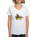 South Dakota Pheasant Women's V-Neck T-Shirt