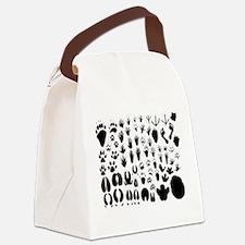 animal tracks Canvas Lunch Bag