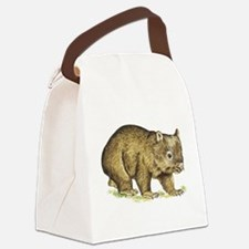 Wombat drawing Canvas Lunch Bag