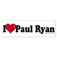 I Heart Paul Ryan Bumper Sticker