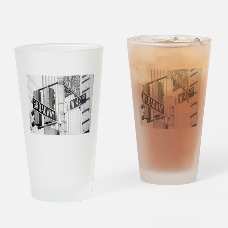 NY Broadway Times Square - Drinking Glass