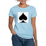Spades Playing Card Symbol Women's Pink T-Shirt