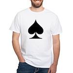 Spades Playing Card Symbol White T-Shirt