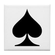Spades Playing Card Symbol Tile Coaster