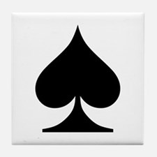 Spades Playing Card Symbol Tile Coaster