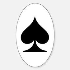 Spades Playing Card Symbol Oval Decal