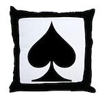 Spades Playing Card Symbol Throw Pillow
