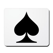Spades Playing Card Symbol Mousepad