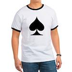 Spades Playing Card Symbol Ringer T