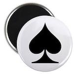 Spades Playing Card Symbol Magnet