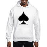 Spades Playing Card Symbol Hooded Sweatshirt