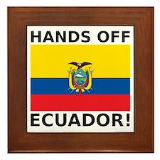 Hands off Ecuador! Framed Tile