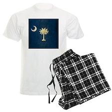 Grunge South Carolina Flag pajamas