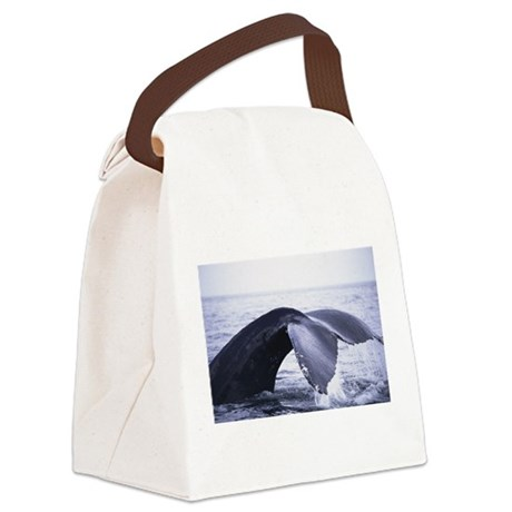 whales tail Canvas Lunch Bag