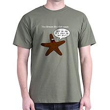 Brown Starfish T-Shirt