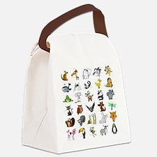 Kid Art Animals Canvas Lunch Bag