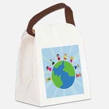 Kids Holding Hands Canvas Lunch Bag