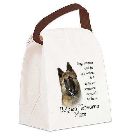 Belgian Tervuren Mom Canvas Lunch Bag