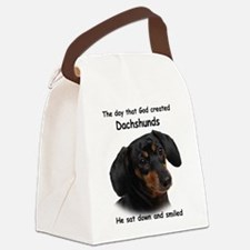 God-Dachshund Dark Shirt.png Canvas Lunch Bag