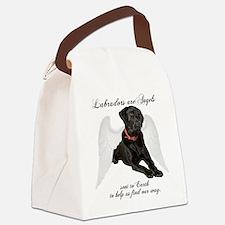 Black Lab Angel Canvas Lunch Bag