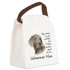 Weimaraner Mom Canvas Lunch Bag
