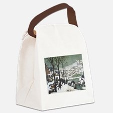 Hunters in the Snow Canvas Lunch Bag