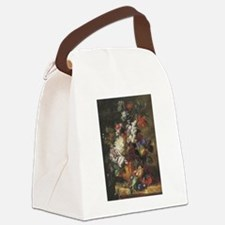 Bouquet of Flowers in an Urn Canvas Lunch Bag