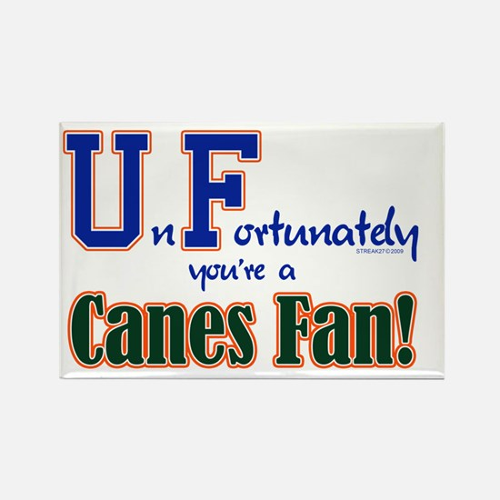 UnFortunately You're A Canes Fan! Rectangle Magnet