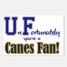 UnFortunately You're A Canes Fan! Postcards (Packa