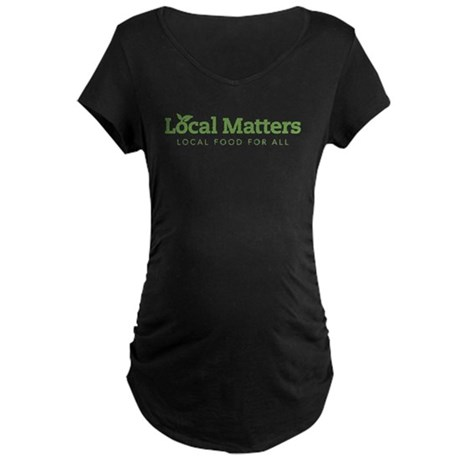 LM green on white logo Maternity T-Shirt